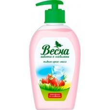 Жидкое мыло «Весна» Земляника со сливками 280мл.