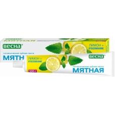 Зубная паста «Мятная»  Лимон+отбеливание в футляре 100мл.