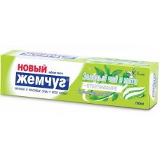 Зубная паста Новый Жемчуг Зеленый чай и мята + отбеливание 100 мл.
