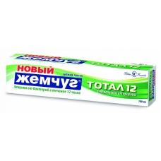 Зубная паста «Новый Жемчуг» Тотал 12 Отбеливание от природы 100 мл.