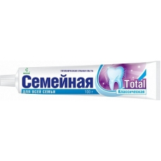 Лечебно-профилактическая зубная паста «Семейная» Тотал 100г.