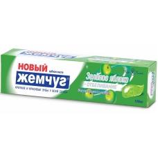 Зубная паста Новый Жемчуг Зеленое яблоко + отбеливание 100мл
