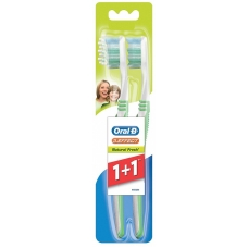 Зубная щетка Oral-B 3-effect Натуральная свежесть 40 средняя 1+1